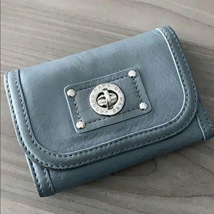 MARC JACOBS turn lock tri fold wallet